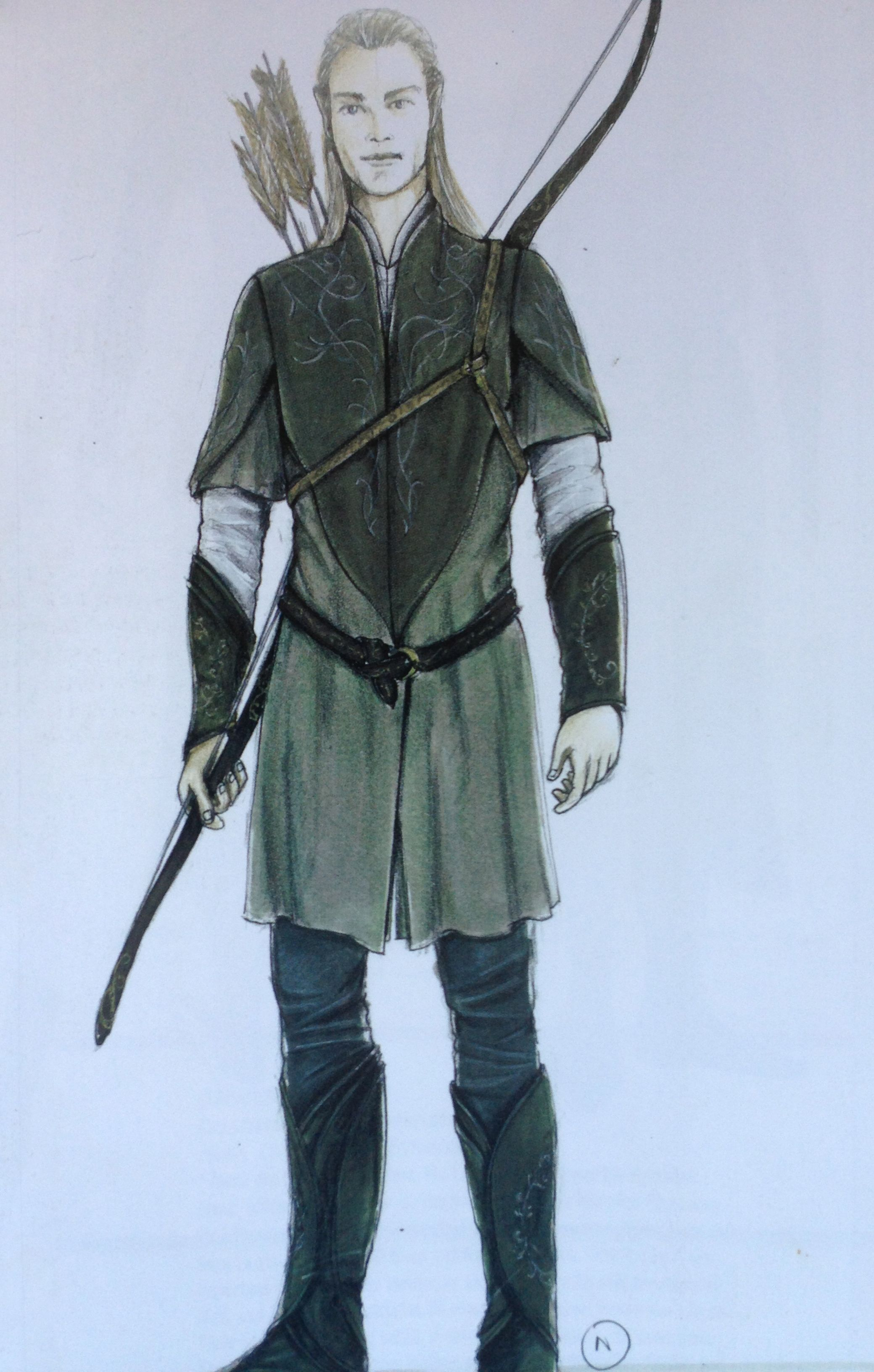 Concept Art By Ngila Dickson For Legolas Greenleaf In His