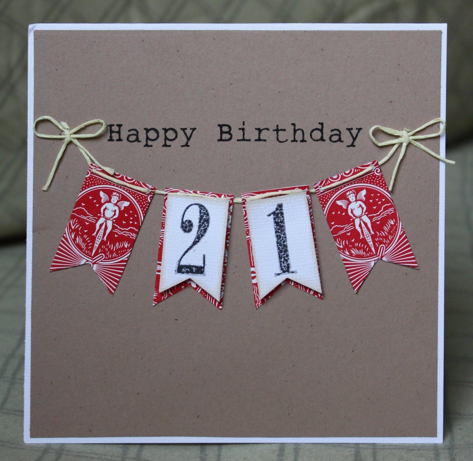21st Birthday Card By Lalo 21st Birthday Cards Creative Birthday Cards Cards Handmade