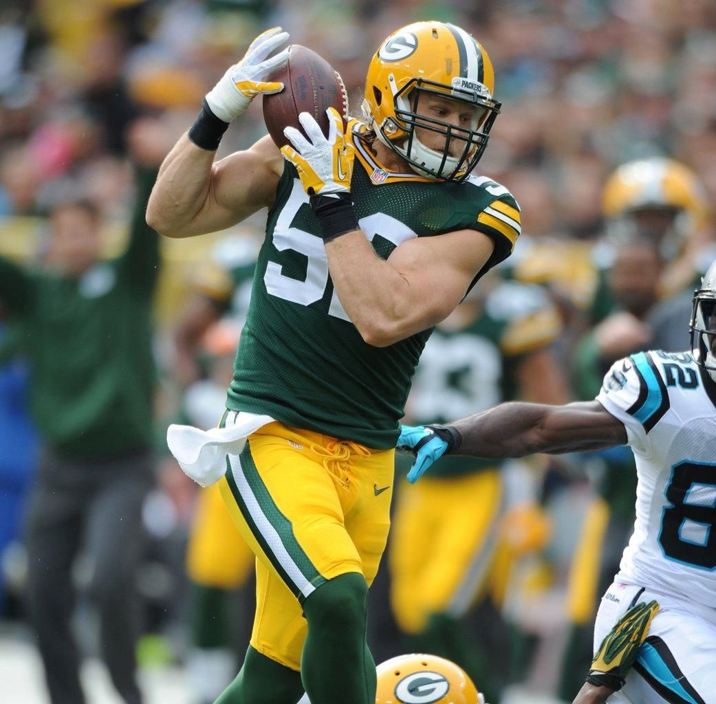 Clay Matthews The Touchdown Didn T Count But He Sure Looked Pretty Green Bay Packers Fans Green Bay Packers Packers