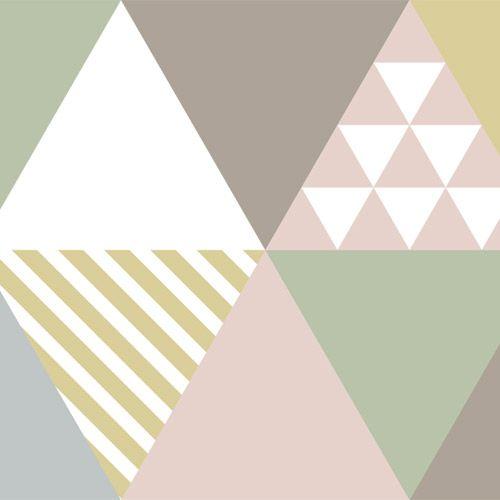 Frise adh sive murale triangle scandinave smart fifi - Frise murale castorama ...