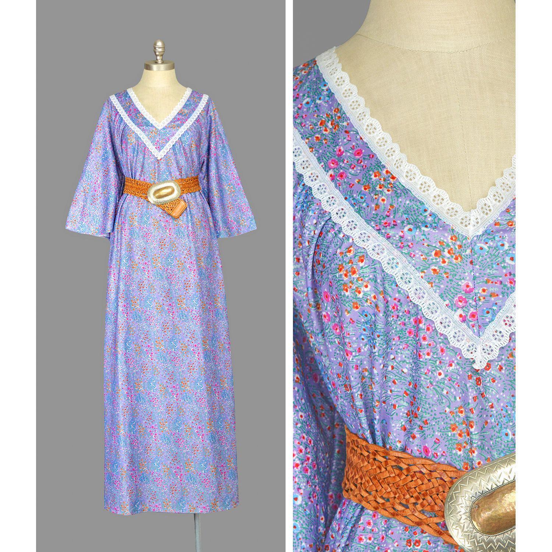 ff s maxi dress u bell sleeve caftan dress u purple floral