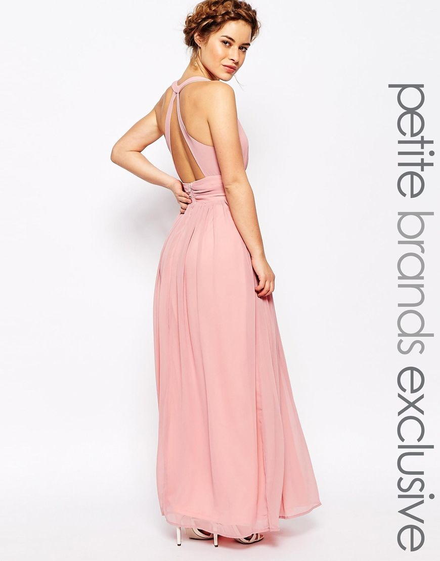 8f9ab9d8 True Decadence Petite Plunge Front Open Back Maxi Dress Best Dresses For  Petites, Petite Dresses