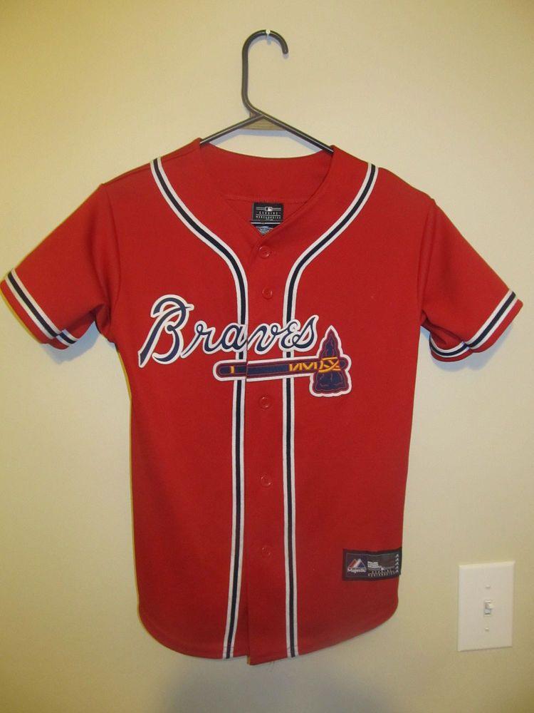 hot sale online 94288 30263 Justin Upton - Atlanta Braves jersey - Majestic youth Medium ...