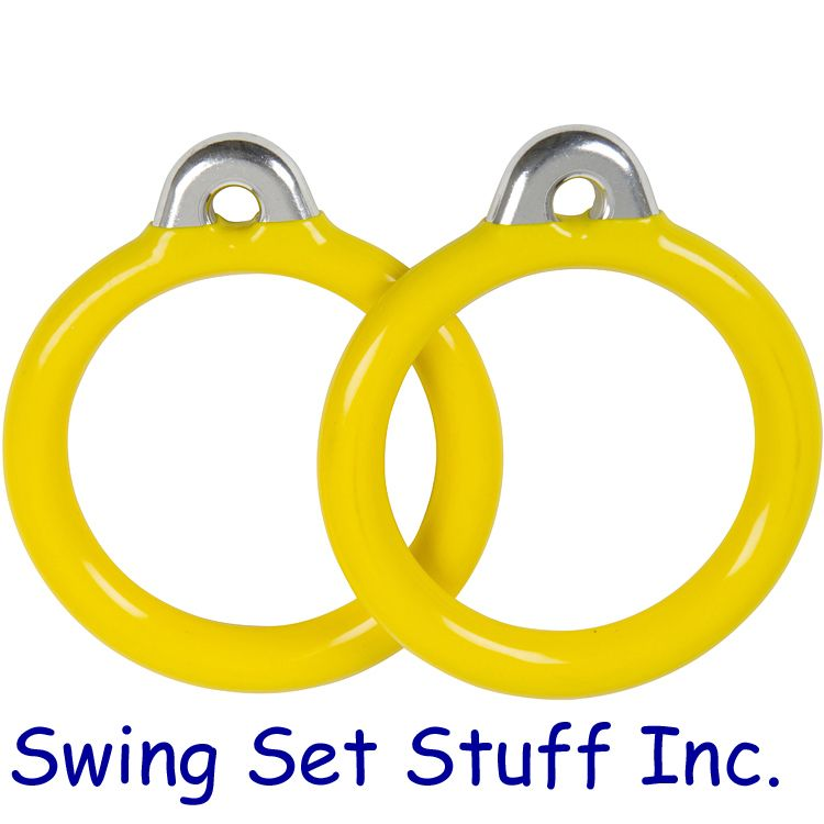 with Swing Hangers and SSS Logo Sticker Green Swing Set Stuff Trapeze Rings