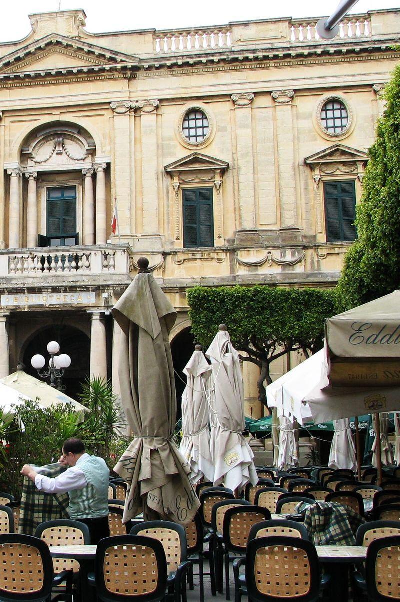 Malta_outdoor_cafe ~ Valletta, Capital city of Malta