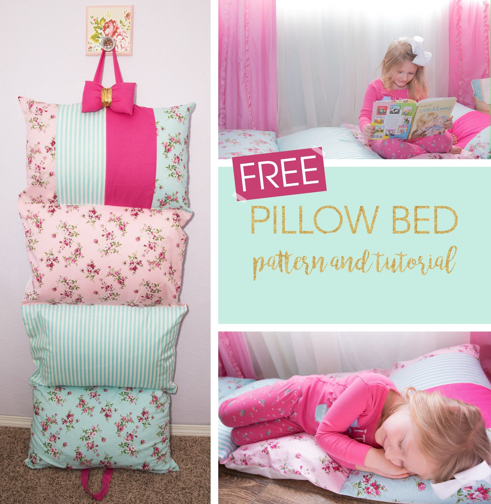 this free pillow bed tutorial will teach you how to make a pillow