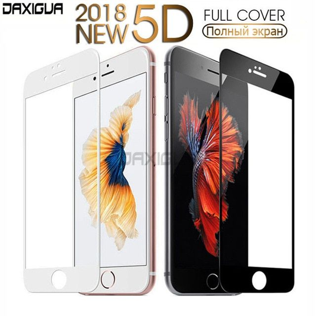 e704cab3198 5D Screen Protector Protective Glass On For iPhone 6 6s 7 8 Plus Glass  Tempered Glass For iPhone X 10 5 5S SE Cover Glass Film Review