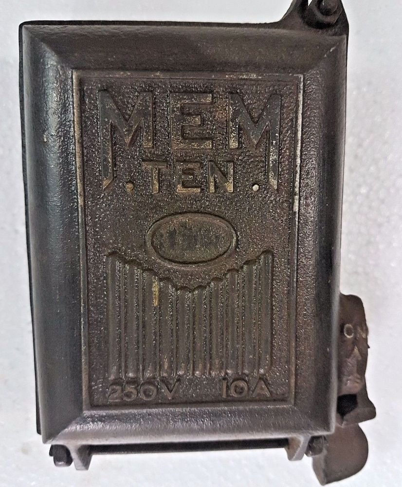medium resolution of vintage mem ten switch gear ceramic fuse box england cast iron on off switch memten