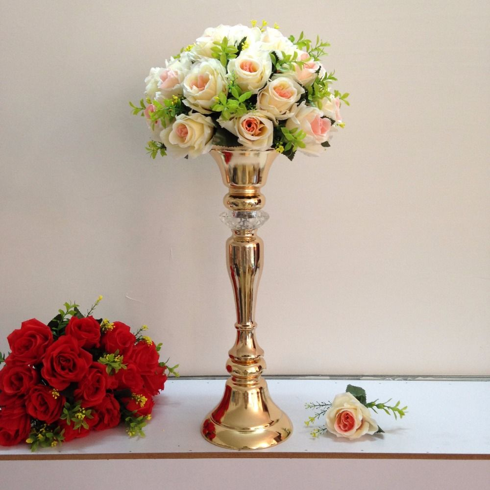 Low Cost Wedding Flowers: Compare Prices On Gold Centerpieces- Online Shopping/Buy