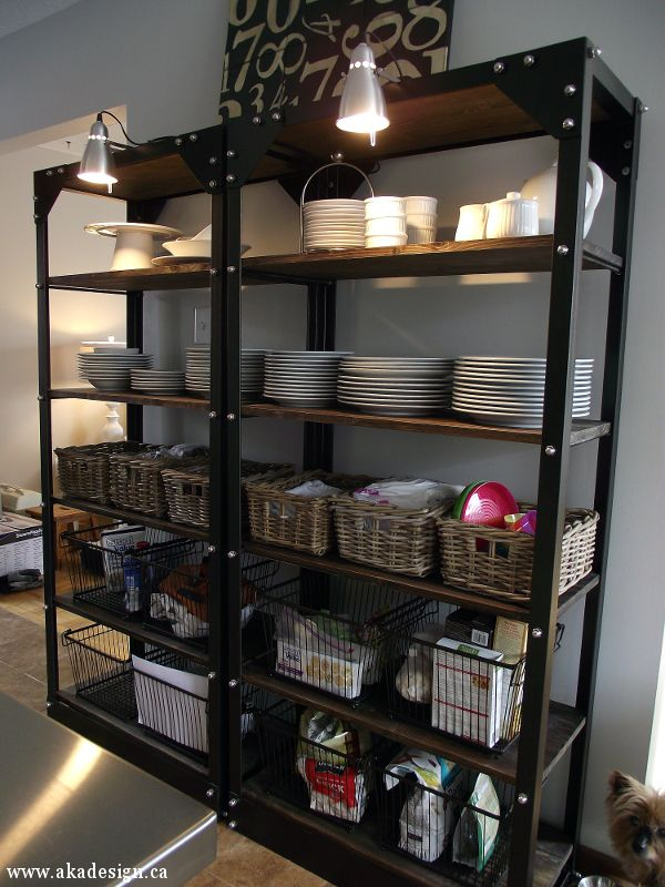 10 Restoration Hardware Hacks Wood, metal shelves