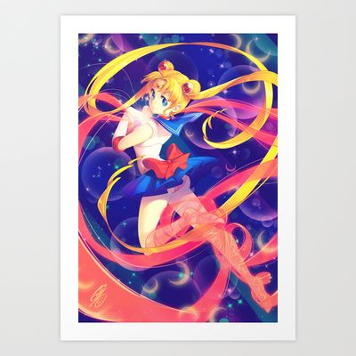 Buy Sailor Moon by Ginilla as a high quality Art Print. Worldwide shipping available at Society6.com. Just one of millions of products available.
