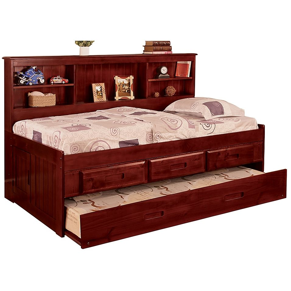 Discovery World Furniture Twin Daybed With Drawers And Trundle In
