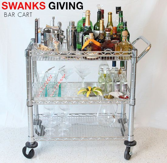 retro bar cart rustic wooden bar love thisretro bar cart also tells you what need to make swanky drinks would line the shelves with mirrored glass add extra shine