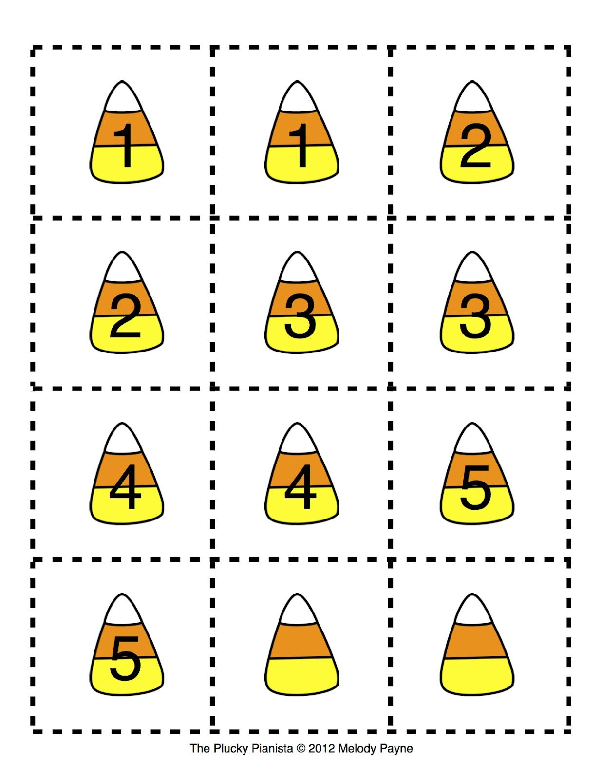Learn Numerals With Candy Corn