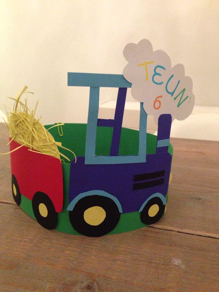 Verjaardagshoed Tractor Okul öncesi Verjaardag Kroon