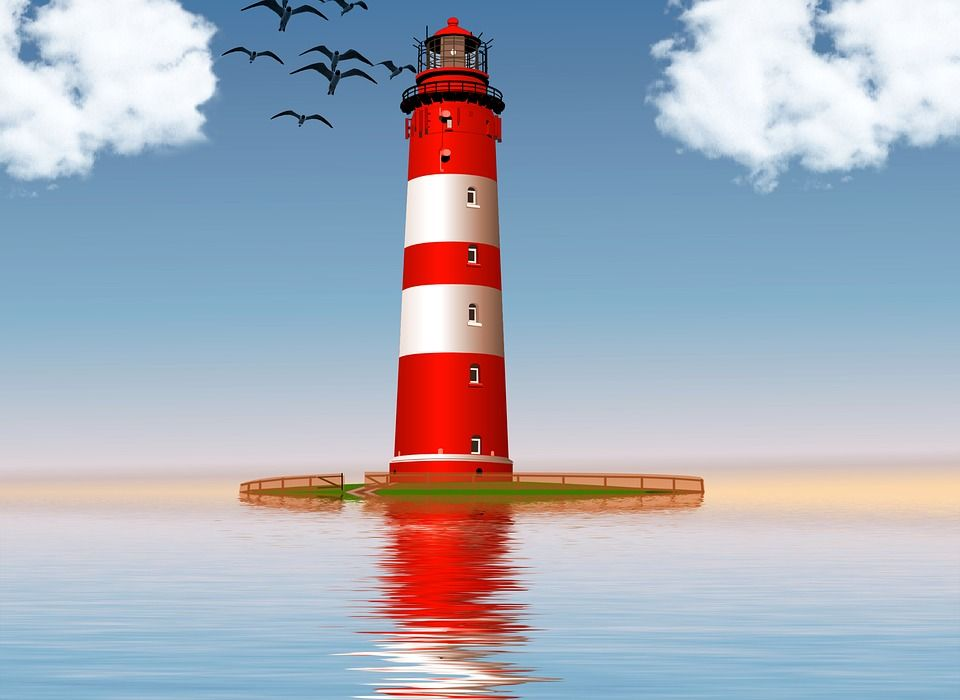 Map Pin In A Map Free Vector Instantshift Beautiful Free: Lighthouse, Ocean, Sea, Red, White