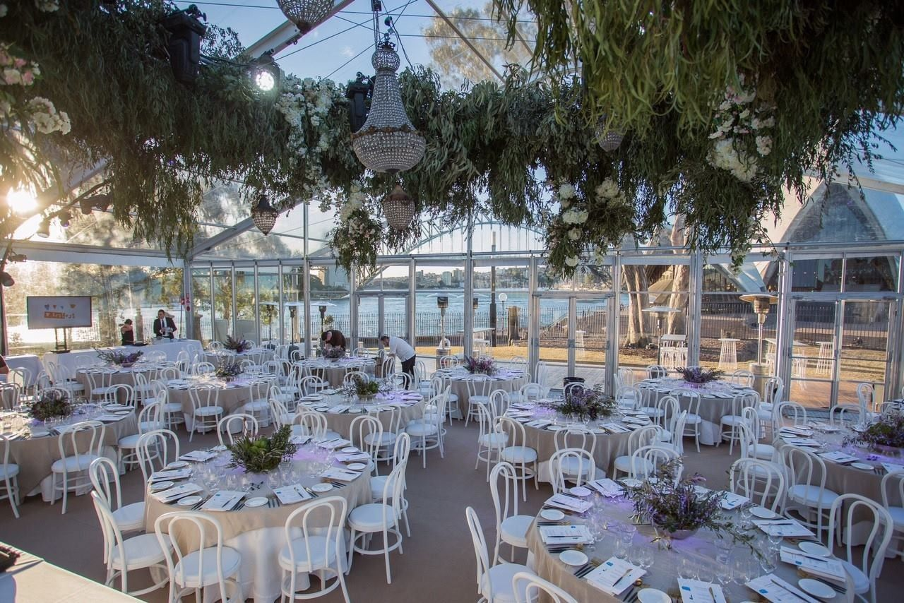 Bennelong Lawn Wuth Marquee Greenery Is By Mr Cooks Florist Will Cost Around 6k Wedding Table Decorations My Wedding