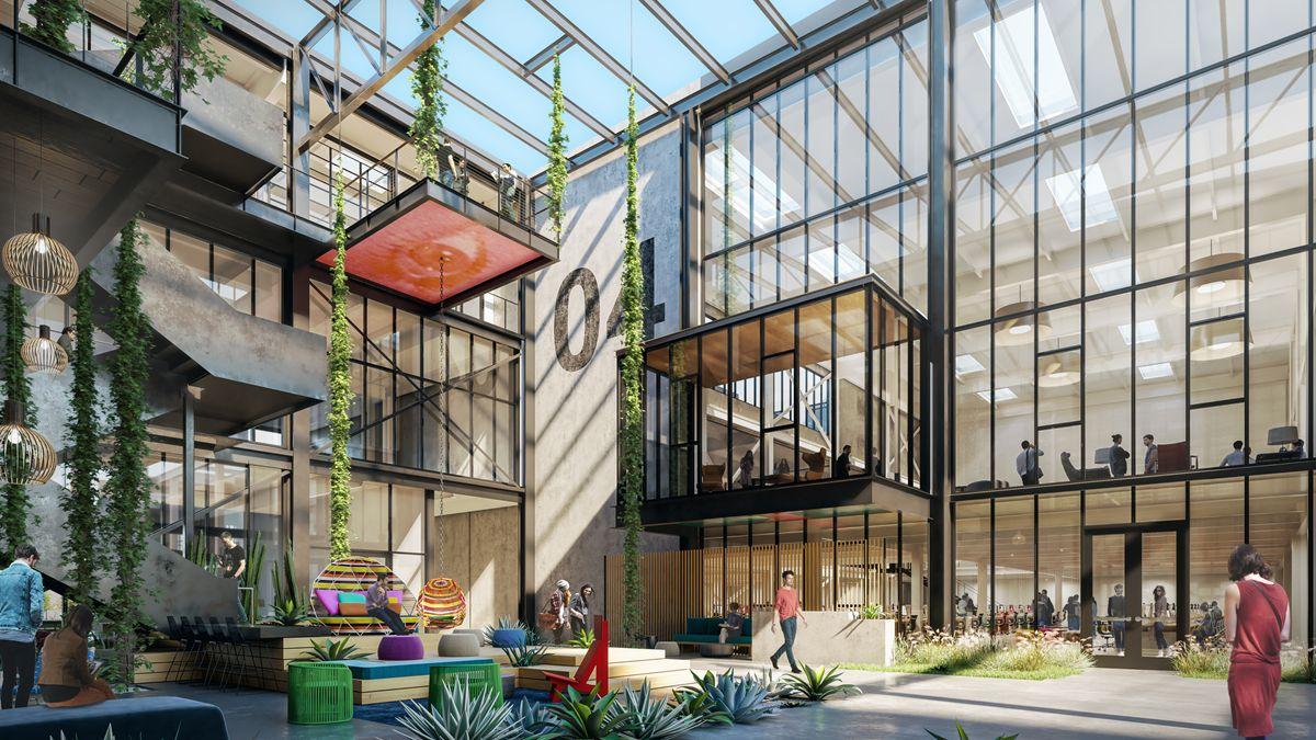 Ehrlich Yanai Rhee Chaney Architects The Press Food Hall Costa Mesa California Construction