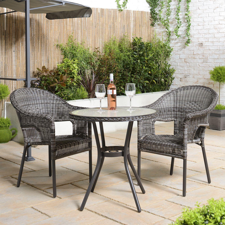 Padstow Wicker Chair  Bistro table outdoor, Outdoor furniture