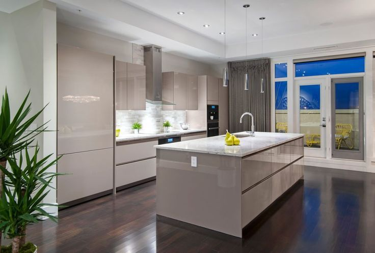 Beautiful Taupe Siematic Kitchen Burma Star Calgary Kitchen Project Bow Valley Kitchens Custom Kitchen Cabinets Kitchen Projects Modern Kitchen Design