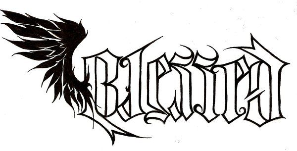 Blessedcursed Ambigram By Nehemya On Deviantart Tattoos