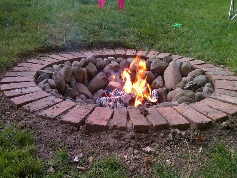 outdoor brick fire pit designs fireplace design ideas