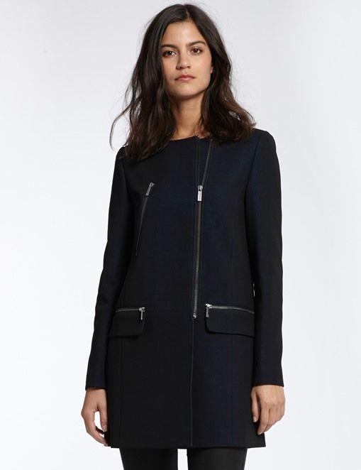 e596afe4ac1 Manteau droit en crêpe Morgan prix promo Boutique Morgan 100.00 € Vetement  Pas Cher Femme