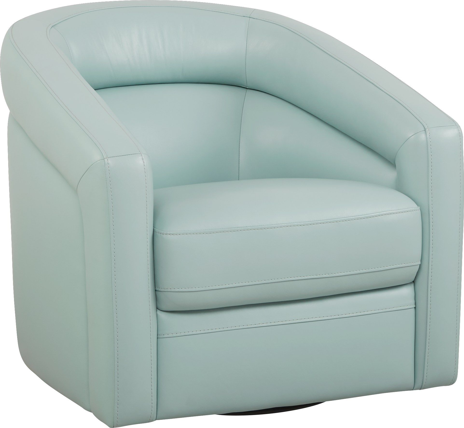 Best Modena Sky Blue Leather Swivel Chair White Dining Chairs 400 x 300