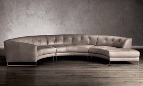 Natuzzi Leather Rounded Sectional Sofa Love