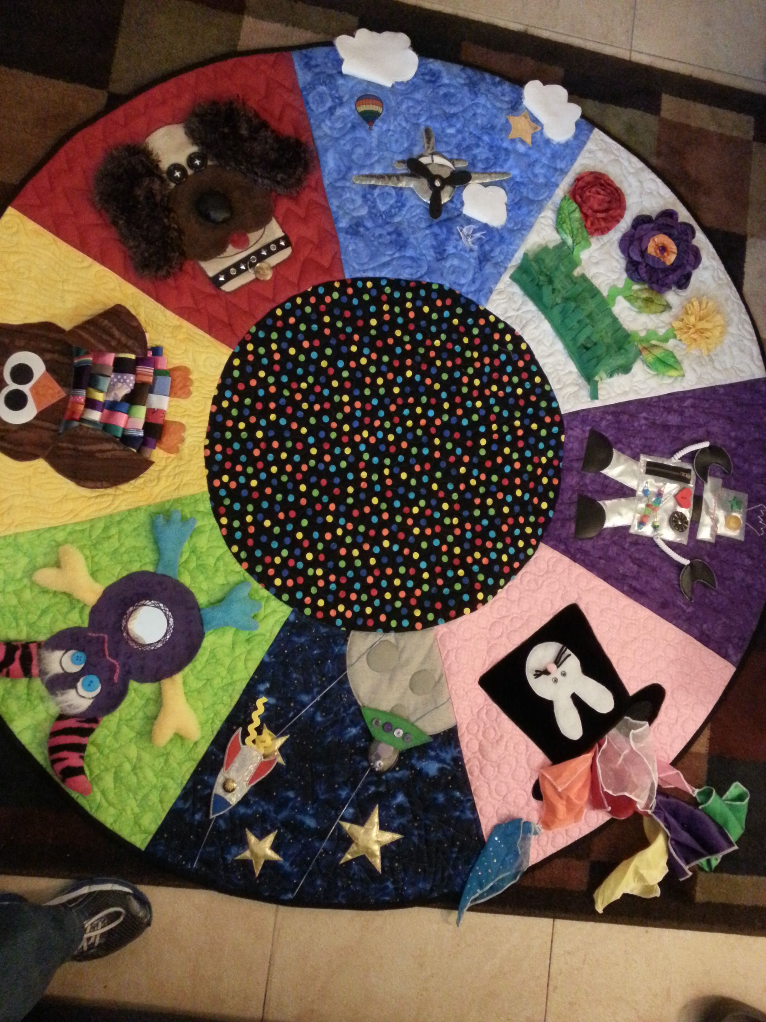 Round activity quilt for my first grandson Baby quilts