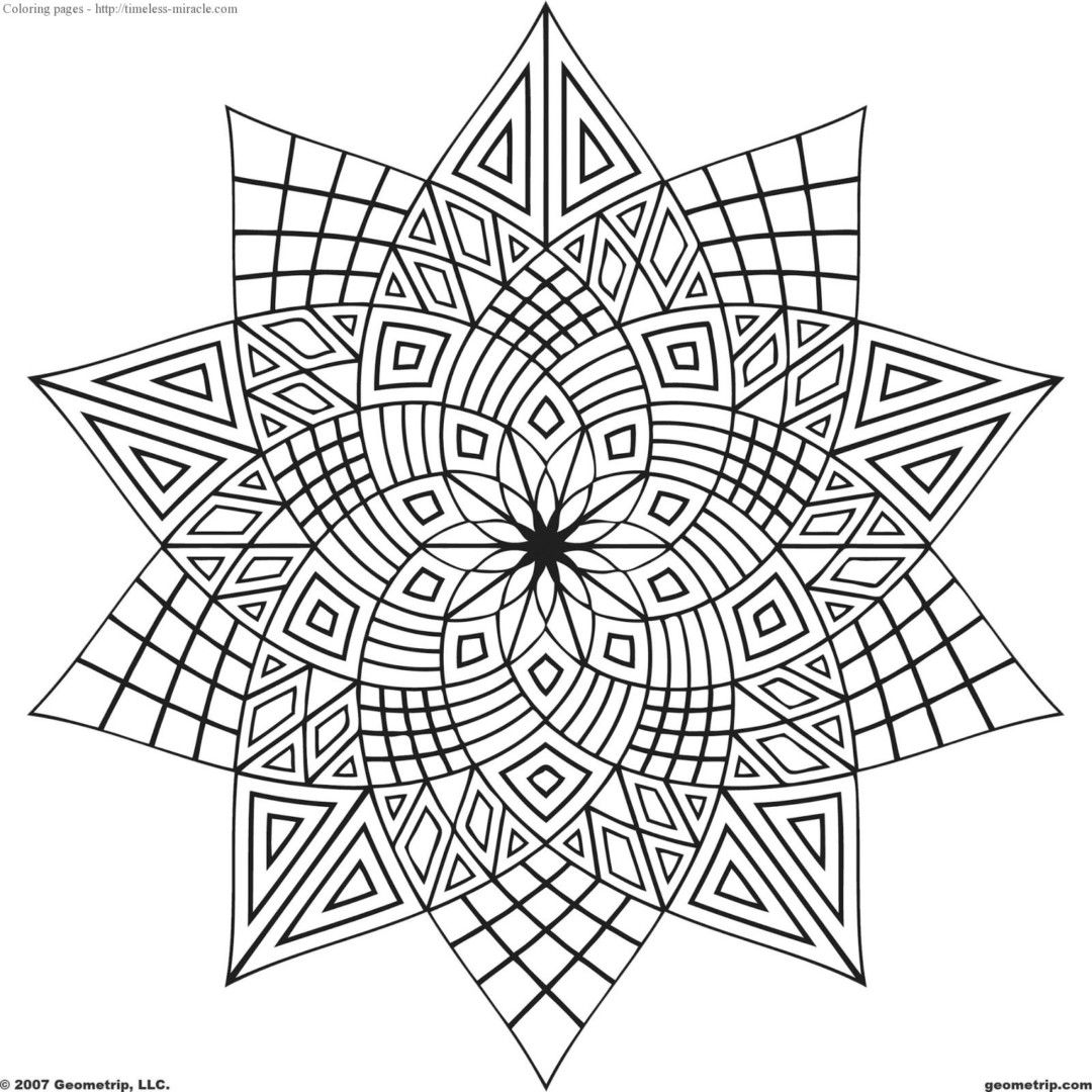 Coloring Pages For Girls 10 Years Old With Images Geometric