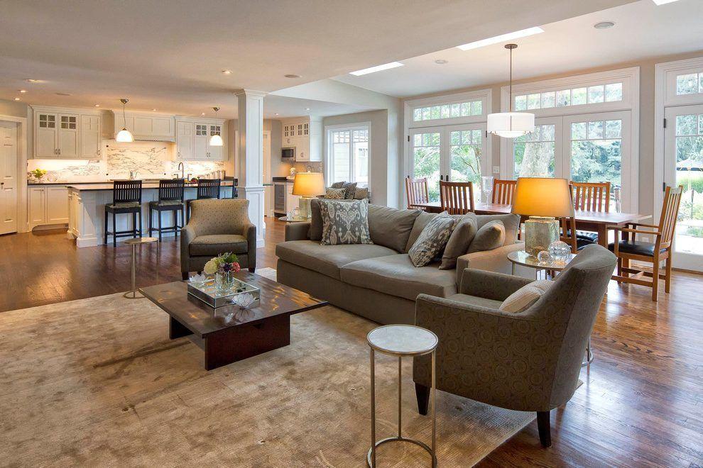 Open Concept Kitchen Living Room Design Ideas Transitional