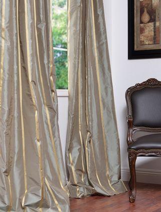 Taffeta Stripe Silk Curtains Curtains Drapes Curtains