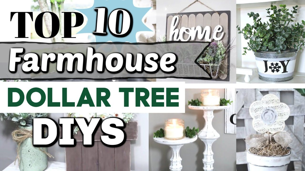 Top 10 Dollar Tree Diys Best Diy Farmhouse Home Decor Ideas Krafts By Katelyn Youtube Dollar Tree Diy Diy Dollar Tree Decor Dollar Tree Decor