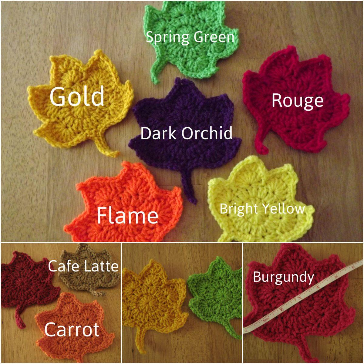 Maple Leaf Coasters,Crochet Maple Leaf Coasters,Leaf Coasters ...