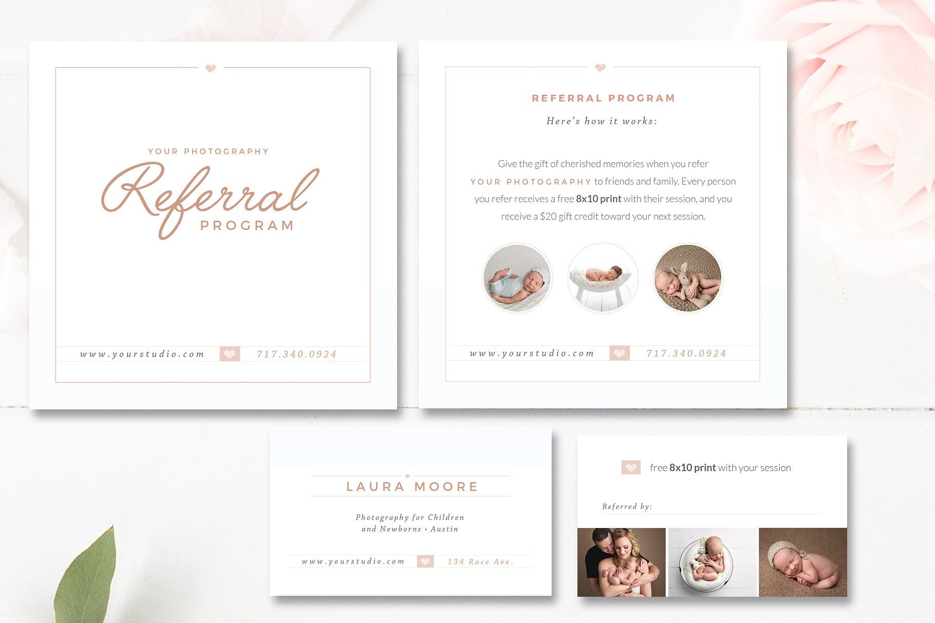 Photo Referral Card Templates Referral Cards Card Templates Card Template