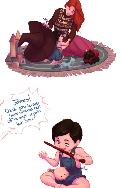 Lily and little Harry by azeher   Harry potter comics