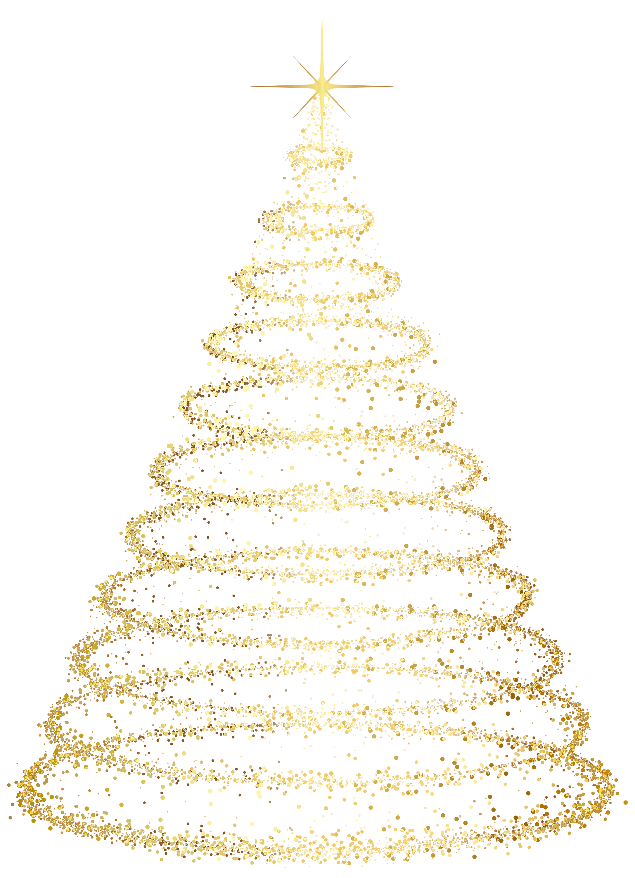 Gold Christmas Tree Transparent 2173 3001 Natale