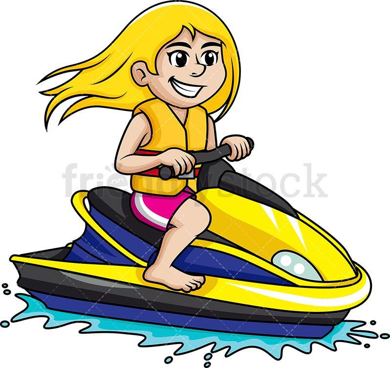 Kid Sitting On Boat Lifejacket Free Clip Art Drawings