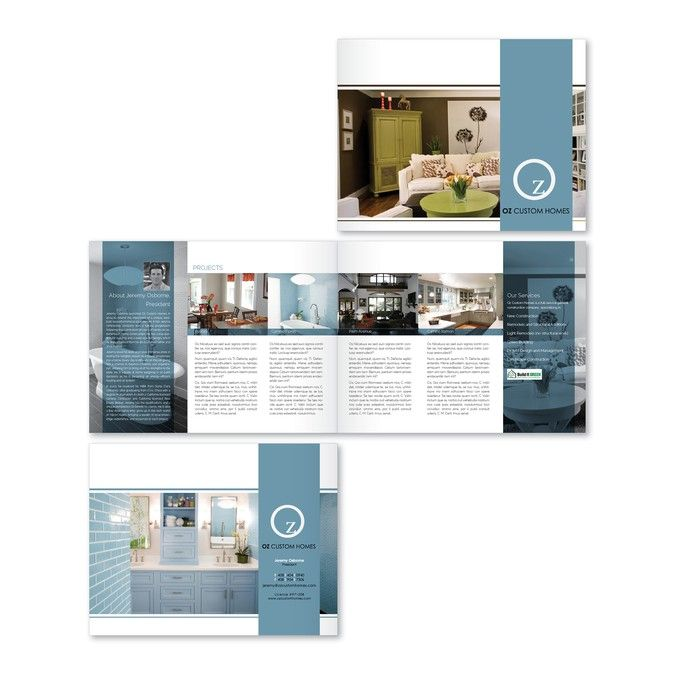 Create a visually stunning brochure for a custom home builder by ...