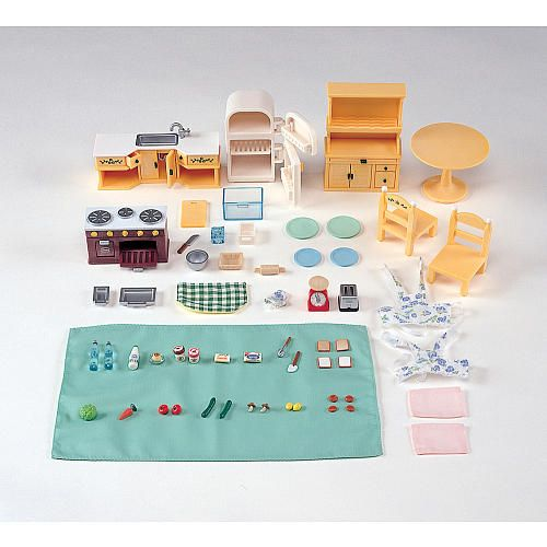 Calico Critters Kitchen | Calico Critters Kozy Kitchen Set International Playthings Toys