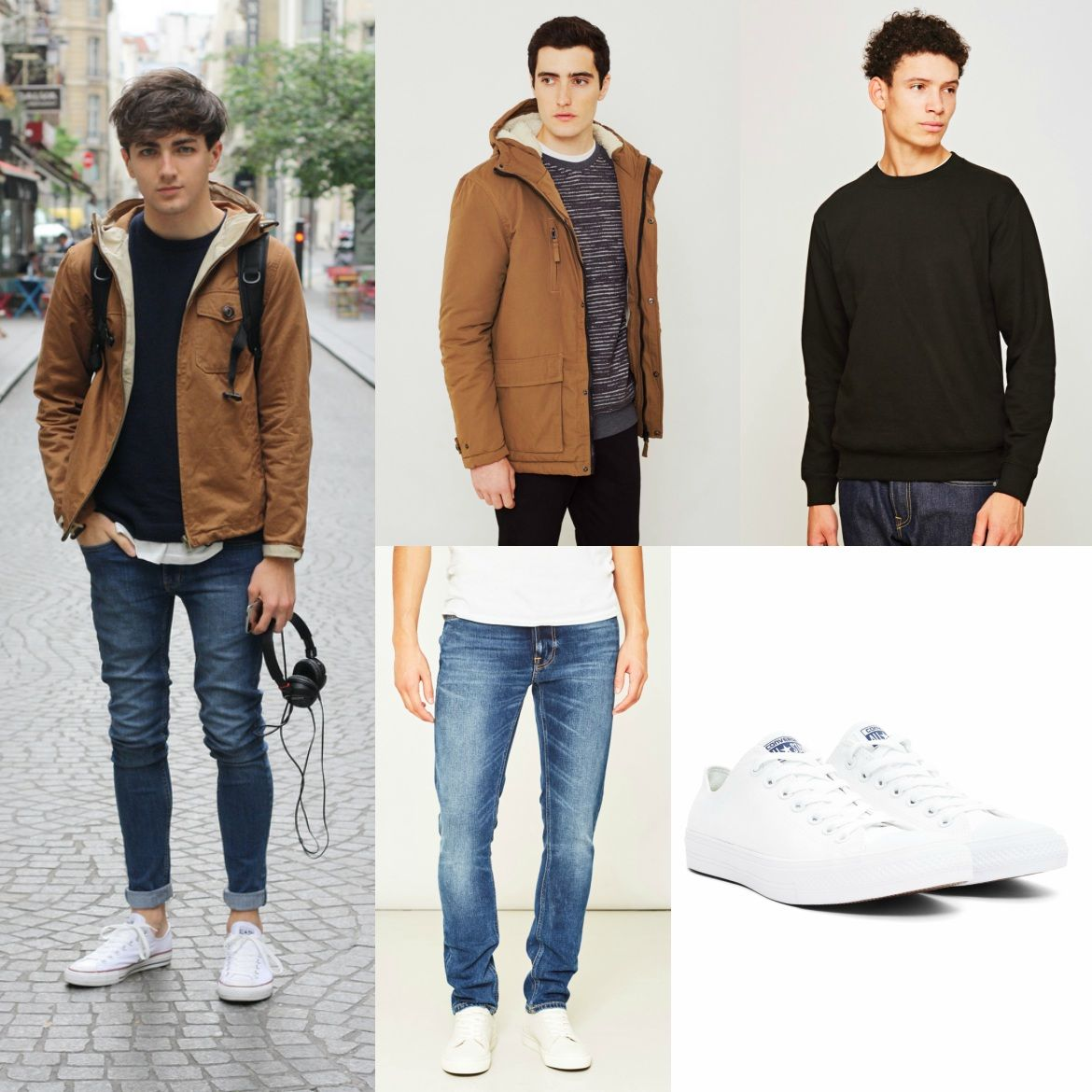 How To Wear Converse | Mens converse trainers, All white