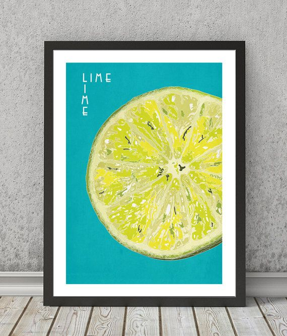 Lime print Lime poster Lime art Lime wall art Lime by VectorDome ...
