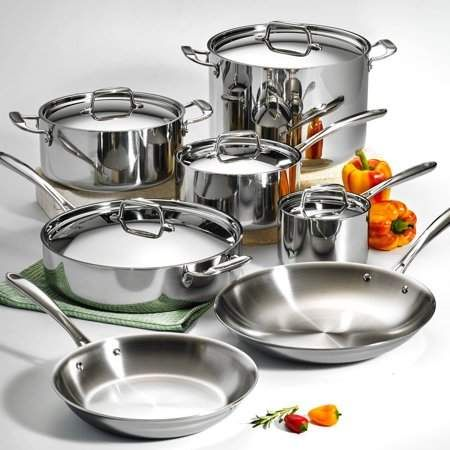 Tri Ply Clad Cookware Set