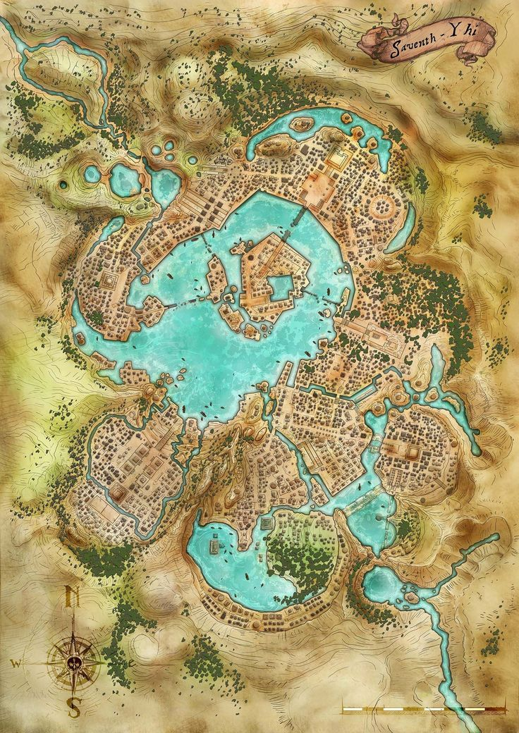 SaventhYhi poster map for Pathfinder World Building Map Making