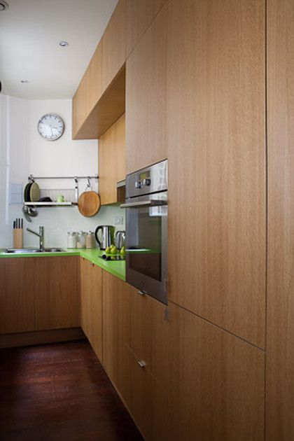 Petite mais fonctionnelle, la cuisine couloir Petits espaces