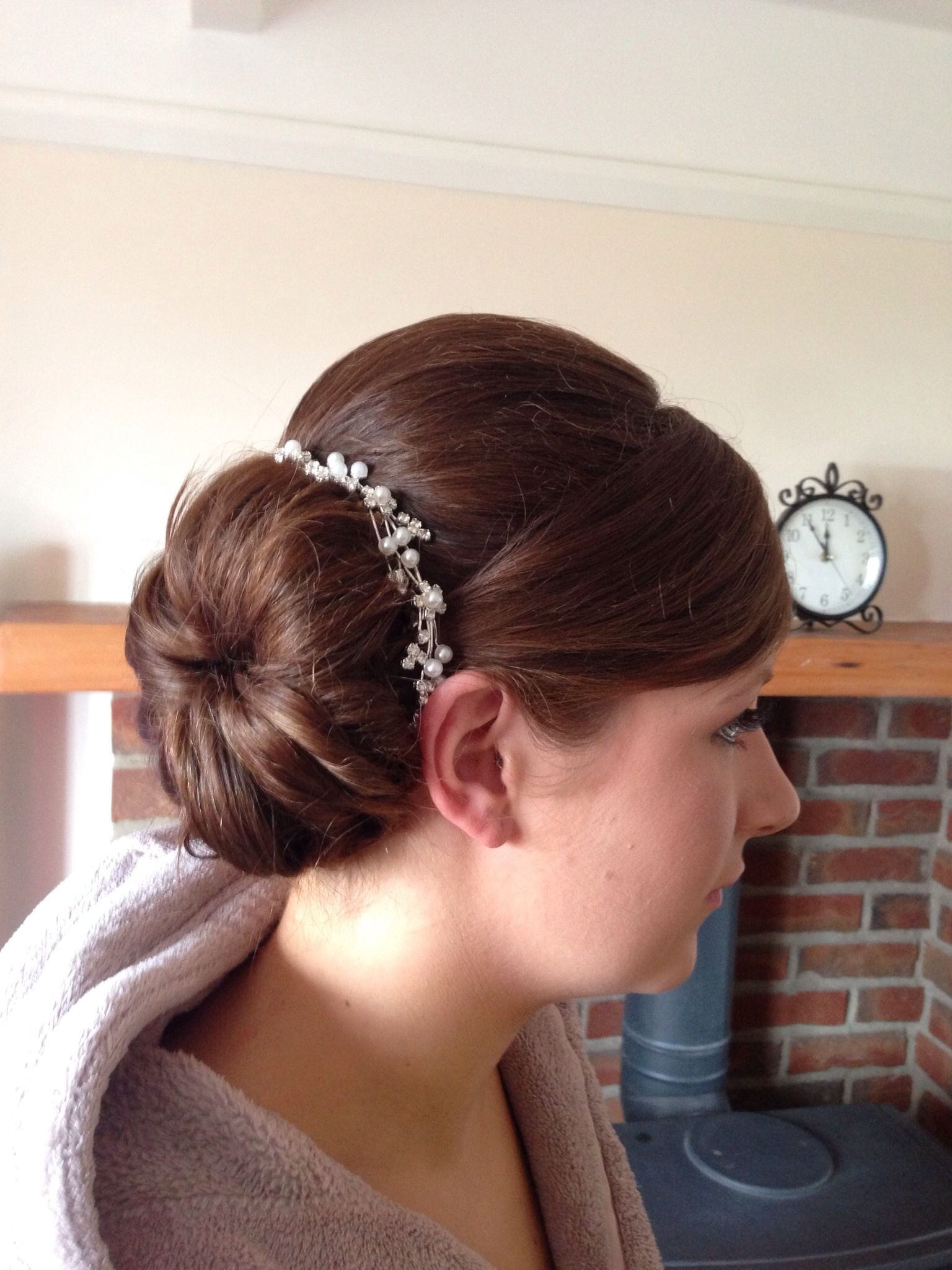 Bridesmaid bun   Up hairstyles, Bridesmaid bun, Hair