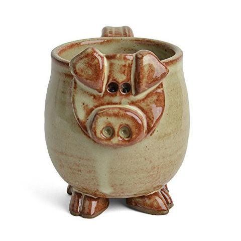 MudWorks Pottery Petunia the Pig Mug