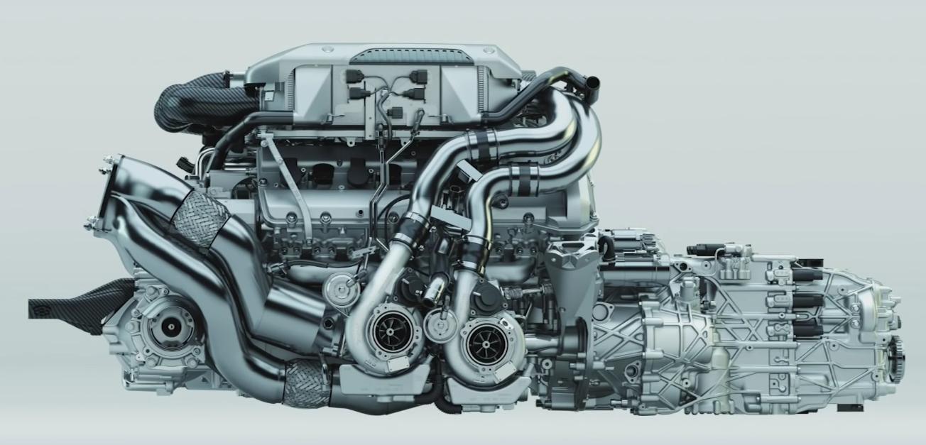 The Bugatti W16 Engine for the Bugatti Chiron [1304 × 627]