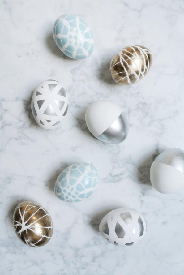 Kreative #Ostereier: Grafisches Design mit Pastel, Gold & Silber ...